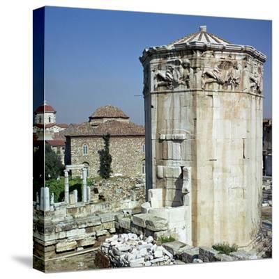 The tower of the winds in Athens, 1st century-Unknown-Stretched Canvas Print