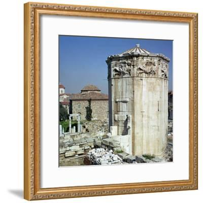 The tower of the winds in Athens, 1st century-Unknown-Framed Photographic Print