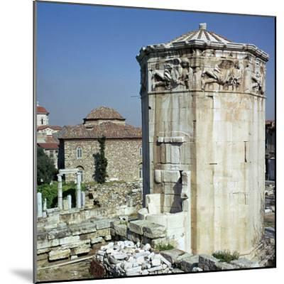 The tower of the winds in Athens, 1st century-Unknown-Mounted Photographic Print