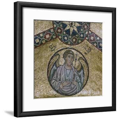 A byzantine mosaic of the Archangel Raphael, 11th century-Unknown-Framed Giclee Print