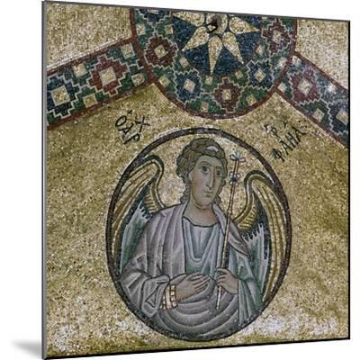 A byzantine mosaic of the Archangel Raphael, 11th century-Unknown-Mounted Giclee Print