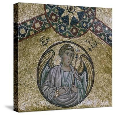 A byzantine mosaic of the Archangel Raphael, 11th century-Unknown-Stretched Canvas Print