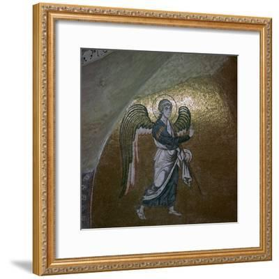 Mosaic detail of the angel Gabriel, 11th century-Unknown-Framed Giclee Print