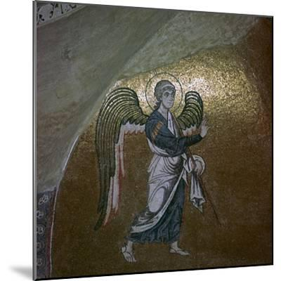 Mosaic detail of the angel Gabriel, 11th century-Unknown-Mounted Giclee Print