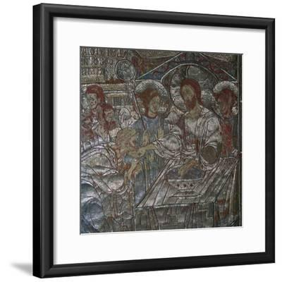 Detail of the Last Supper on embroidered vestments, 14th century-Unknown-Framed Giclee Print