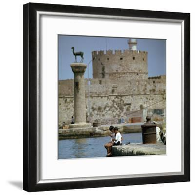 Mandraki Harbour in Rhodes, 1st century BC-Unknown-Framed Photographic Print