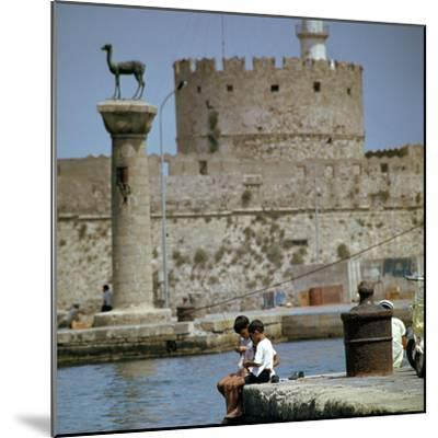 Mandraki Harbour in Rhodes, 1st century BC-Unknown-Mounted Photographic Print