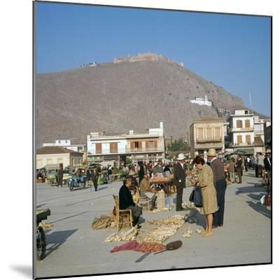 Morning market in Argos, 6th century BC-Unknown-Mounted Photographic Print