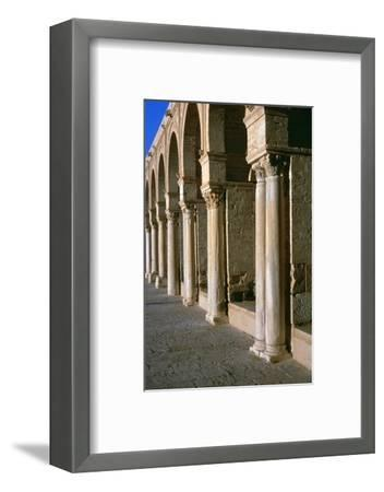 Arcade in the courtyard of the Great Mosque of Kairoun, 7th century-Unknown-Framed Photographic Print