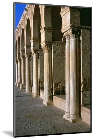 Arcade in the courtyard of the Great Mosque of Kairoun, 7th century-Unknown-Mounted Photographic Print