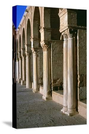 Arcade in the courtyard of the Great Mosque of Kairoun, 7th century-Unknown-Stretched Canvas Print