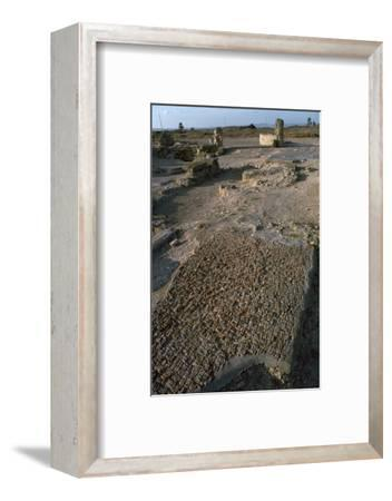 Punic floor mosaic, c.6th century BC-Unknown-Framed Photographic Print