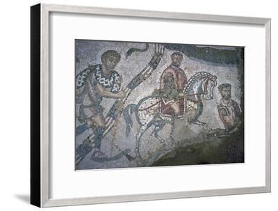 Roman mosaic from Bulla Regia, 2nd century BC-Unknown-Framed Giclee Print