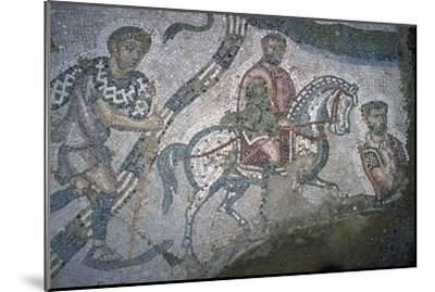 Roman mosaic from Bulla Regia, 2nd century BC-Unknown-Mounted Giclee Print