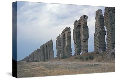 Roman aqueduct in Carthage-Unknown-Stretched Canvas Print