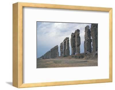 Roman aqueduct in Carthage-Unknown-Framed Photographic Print
