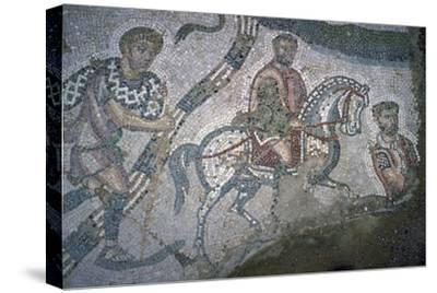 Roman mosaic from Bulla Regia, 2nd century BC-Unknown-Stretched Canvas Print
