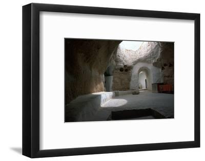 Pit dwelling in Tunisia-Unknown-Framed Photographic Print