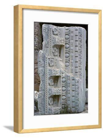 Architectural fragment from the baths of Antoninus Pius, 2nd century-Unknown-Framed Giclee Print