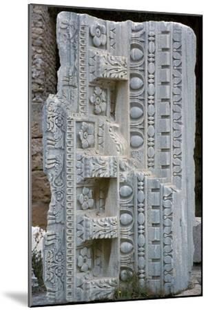 Architectural fragment from the baths of Antoninus Pius, 2nd century-Unknown-Mounted Giclee Print