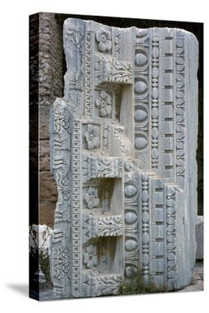 Architectural fragment from the baths of Antoninus Pius, 2nd century-Unknown-Stretched Canvas Print