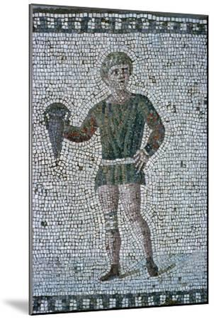 Floor mosaic from a Roman villa-Unknown-Mounted Giclee Print