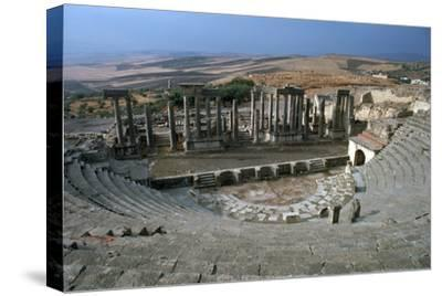 The Roman theatre of Dougga, 2nd century-Unknown-Stretched Canvas Print