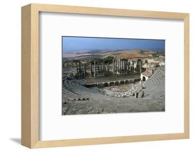 The Roman theatre of Dougga, 2nd century-Unknown-Framed Photographic Print