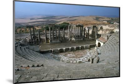 The Roman theatre of Dougga, 2nd century-Unknown-Mounted Photographic Print