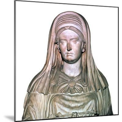 Roman statue of the High Priestess of Vesta-Unknown-Mounted Giclee Print
