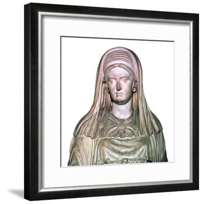 Roman statue of the High Priestess of Vesta-Unknown-Framed Giclee Print