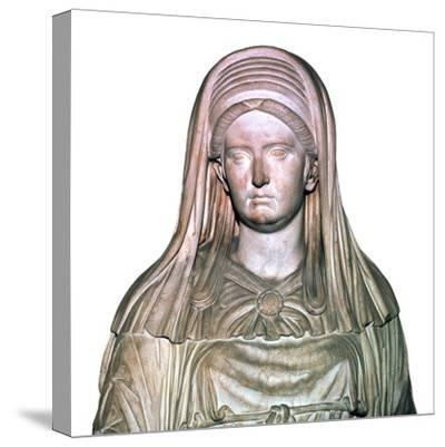 Roman statue of the High Priestess of Vesta-Unknown-Stretched Canvas Print
