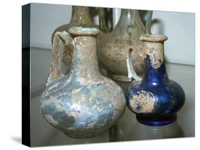 Roman glass bottles-Unknown-Stretched Canvas Print