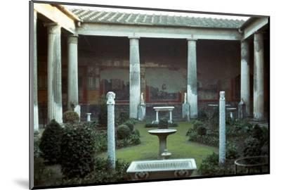 The house of the Vettii in Pompeii, 1st century-Unknown-Mounted Photographic Print