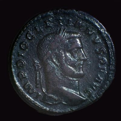 Bronze coin of Diocletian, 3rd century-Unknown-Framed Giclee Print