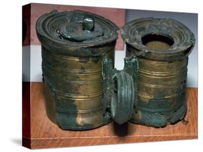 Bronze Roman inkpots, 2nd century-Unknown-Stretched Canvas Print