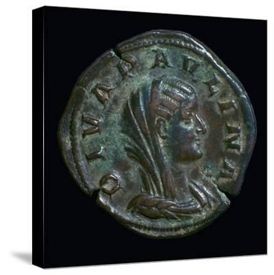 Gold coin of Paulina, 3rd century-Unknown-Stretched Canvas Print