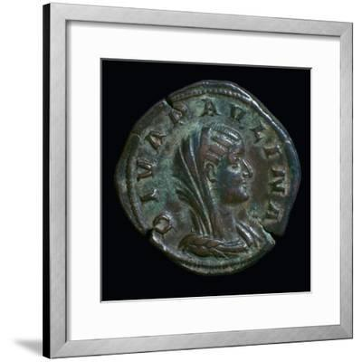 Gold coin of Paulina, 3rd century-Unknown-Framed Giclee Print