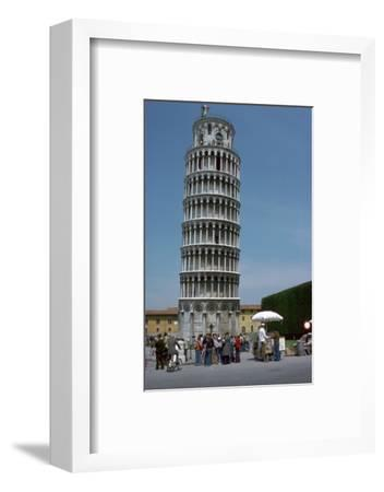 The leaning tower of Pisa, 12th century-Unknown-Framed Photographic Print