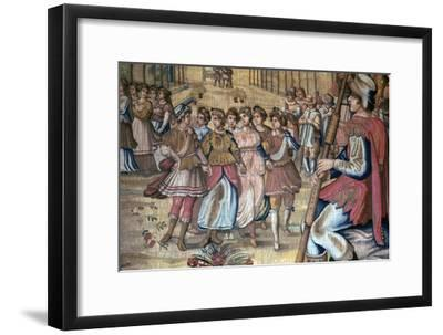 Florentine tapestry, 16th century-Unknown-Framed Giclee Print