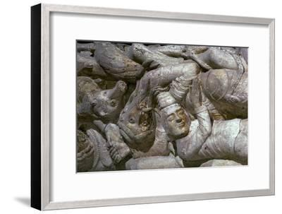 Detail from a carving on Souillac Abbey, 12th century-Unknown-Framed Giclee Print