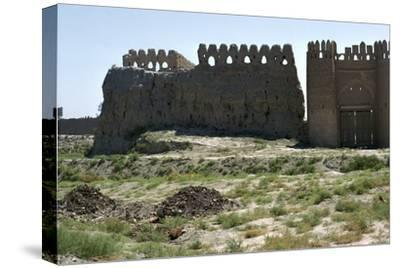 Walls and gate of the ancient city of Bukhara-Unknown-Stretched Canvas Print