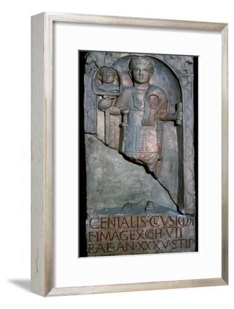 Roman tombstone of a standard bearer-Unknown-Framed Giclee Print