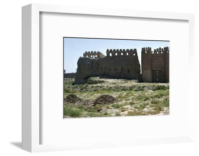 Walls and gate of the ancient city of Bukhara-Unknown-Framed Photographic Print
