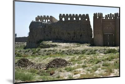 Walls and gate of the ancient city of Bukhara-Unknown-Mounted Photographic Print