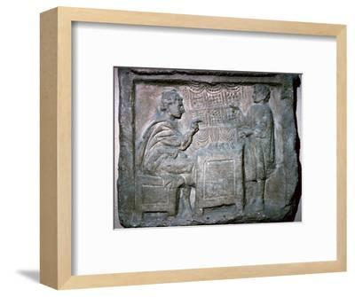 Roman relief of an Apothecary Shop-Unknown-Framed Giclee Print