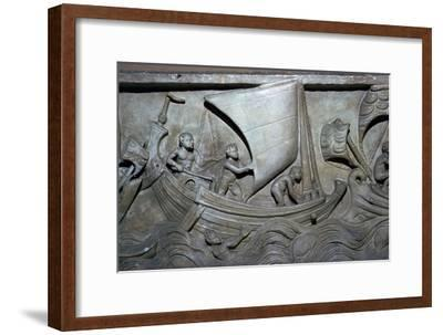 Roman relief of a merchant ship-Unknown-Framed Giclee Print