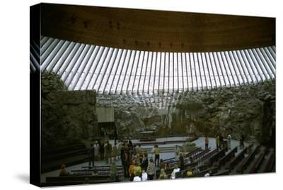 Interior of Temppeliaukio Church, 1960s-Unknown-Stretched Canvas Print