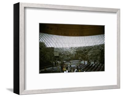 Interior of Temppeliaukio Church, 1960s-Unknown-Framed Photographic Print