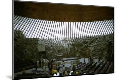 Interior of Temppeliaukio Church, 1960s-Unknown-Mounted Photographic Print